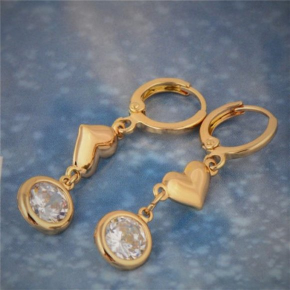 Jewelry - Earrings,  Hearts and Bling-Drop - Valentine